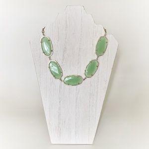 Kendra Scott Valencia Chalcedony Gold Necklace
